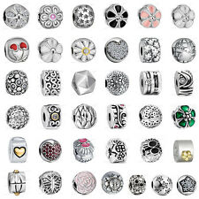 European 925 Sterling Clip on Spacer Silver Charms Bead for Bracelet Chain CA2