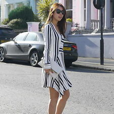 ZARA DRESS WITH SEAMED SKIRT OFF-WHITE Ref. 4437/047 SIZE M  BLOGGERS FAVORITE
