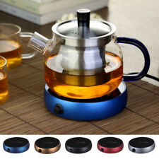 Coffee Electric Tray Heater Water Kettle Tea Hot Pot Portable Warmer New Glass