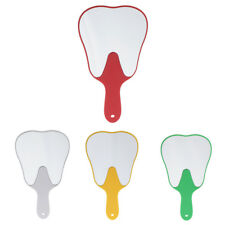 Cute Tooth Shape Hand Held Plastic Cosmetic Makeup Mirror Dental Clinic Gift