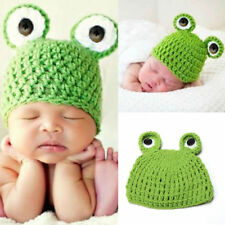 Baby Infant Newborn Beanie Crochet Knit Cap Frog Hat Costume Photography Prop