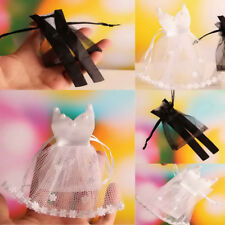 24pcs Veiling Wedding Bride Dress Groom Tuxedo Sweets Candy Bags Jewelry Pouches