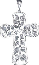 Huge Heavy Sterling Silver Cross without Jesus Pendant Necklace 3.9 Inches