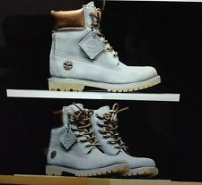 TIMBERLAND 6 INCH PREMUIM DOUBLE SOLE GREY NUBUCK SILVER WOMEN'S BOOTS A1JG8