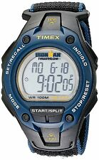 Timex - T5K413 Mens Ironman Traditional Watch W/ Black and Blue Nylon Band