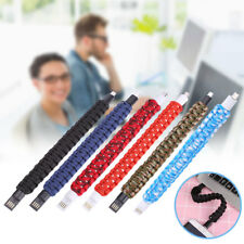 Outdoor Bracelet Micro USB Data Charging Charger Cable Lead For Andriod Phones