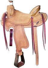 NEW WESTERN BARREL RACING SHOW SADDLE ROUGHOUT