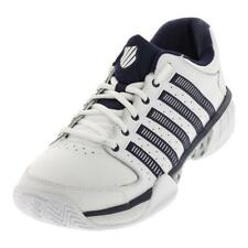 K-SWISS - Men`s HyperCourt Express Leather Tennis Shoes White and Navy - (03379-