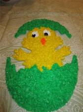 EASTER CHICK IN EGG HOLIDAY NEW MELTED PLASTIC POPCORN wall window decoration