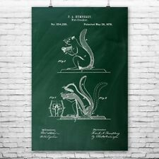 Squirrel Nut Cracker Poster Patent Art Print Gift, Nutcracker, Patent Print