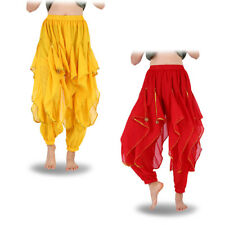 Belly Dance Costume Tribal Trousers Wave Beads Harem Pants Skirt Dancer Costume