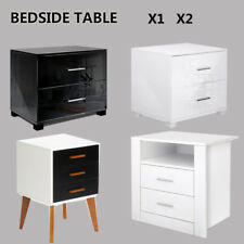Modern Bedside Table Cabinet Lamp Chest Table Nightstand Unit Bedroom Furniture