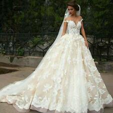 White/Ivory Wedding Dress Bridal Gown Custom Stock Size: 6 8 10 12 14 16 18   RF