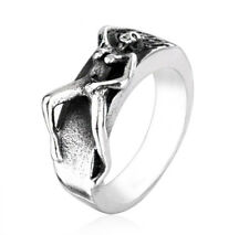 GIRL ADULT NAKED LADY SEX WOMAN EROTIC NUDE LOVE RING  STAINLESS STEEL