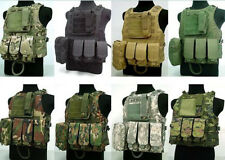 Hunting Unisex Tactical Military Molle Combat Assault Plate Carrier Vest Stock