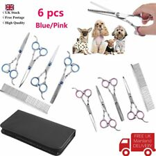 """2 colors  6"""" Pet Dog Hair Cutting Scissors Grooming Kit Curved Shears Tool"""