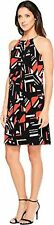 Calvin Klein Womens Printed Halter Dress W/ Chain Neck - Choose SZ/Color