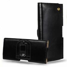 Universal Genuine Leather Belt Clip Holster Pouch Bag Case For iPhone 8 7 6 6S P