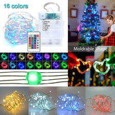 5M 50LED 16 Color Changing String Light Waterproof Battery/USB Xmas Garden Decor