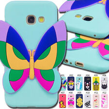 For Samsung Galaxy A7(2017) Gel Rubber Silicone Soft Case Skin TPU 3D Cover Back