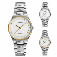 Business Watch Striped Pattern Dial stainless Steel Bracelet Quartz Watches