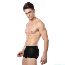 7 Colors Men Boxer Underpants Breathable Bamboo Fiber Ultra-Thin Underwear VNKW1