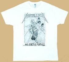 Metallica And Justice For All white t-shirt free shipping