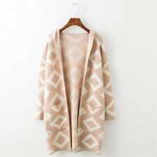 H.SA New Long Cardigan Sweater Coat for Women Casual Hooded Poncho Sweater Cardi