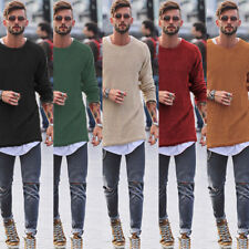 Men's Knit Sweater Pullover Knitwear Jumper Coat Tops Casual Round Neck Fashion