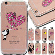 For Apple iPhone 6/6S Glitter Gel Cover Silicone TPU Rubber Soft Back Case Skin