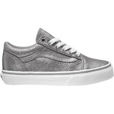 Vans UY Old Skool Frost Gray Textile Youth Trainers Shoes