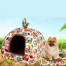 Strawberry Pet Dog Cat Doggy Puppy Bed House Soft Kennel Basket Warm Cushion Pad