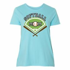 Inktastic Softball Mom Women's Plus Size T-Shirt Mother Just My Clothing Apparel