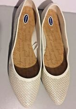 Womens Dr. Scholls White Ivory  Flats Shoes Summer Advanced Comfort Size 7.5,11