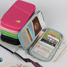 Passport Travel Holder Wallet Case Cover Card Organizer Protector Leather Cash