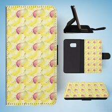 MANGO BANANA FRUIT PATTERN FLIP WALLET CASE COVER FOR SAMSUNG GALAXY S7 EDGE