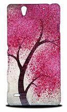 CUTE CHERRY BLOSSOM TREE HARD CASE COVER FOR SONY XPERIA C4