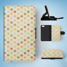 RAINBOW POLKA DOTS PATTERN #4 FLIP WALLET CASE COVER FOR IPHONE 5 / 5S / 5SE