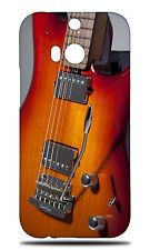 MUSIC ELECTRIC GUITAR 2 HARD CASE COVER FOR HTC ONE M8