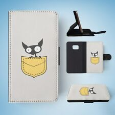 MINIMALISTIC CAT 7 FLIP WALLET CASE COVER FOR SAMSUNG GALAXY S7