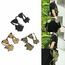 Outdoor Military Ambidextrous Double Holster Pistol Mag Pouch Holder Hunting