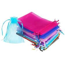 50 Pieces 4 by 6 Inch Organza Gift Bags Drawstring Jewelry Pouches Wedding Favor