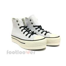 Converse All Star CT Platform Hi 558973C womens white leather sneakers shoes