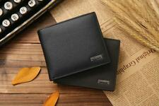 Genuine Leather Men Wallet Fashion Short Bifold Casual Solid Coin Pocket Purse