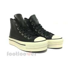 Converse All Star CT Platform Hi 558972C womens black leather sneakers shoes