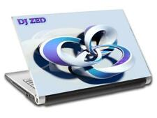 3D Abstract Rings Personalized LAPTOP Skin Decal Vinyl Sticker ANY NAME DJ L551