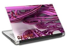 Abstract Pink Personalized LAPTOP Skin Decal Vinyl Sticker ANY NAME DJ L550