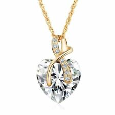 Fashion Jewelry 2 colors Austrian Crystal Heart Pendant Necklace