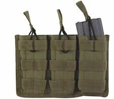 VooDoo Tactical 20-8180004000 M4/M16 Open Top Mag Pouch With Bungee System OD