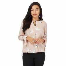The Collection Petite Womens Pale Pink Printed Petite Top From Debenhams